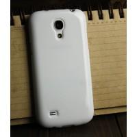 Силиконовый непрозрачный чехол для Samsung Galaxy S4 Mini Белый
