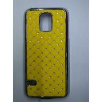 Пластиковый чехол со стразами для Samsung Galaxy S5 Mini Желтый