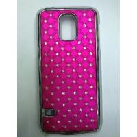 Пластиковый чехол со стразами для Samsung Galaxy S5 Mini Пурпурный