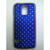 Пластиковый чехол со стразами для Samsung Galaxy S5 Mini Синий