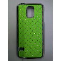 Пластиковый чехол со стразами для Samsung Galaxy S5 Mini Зеленый