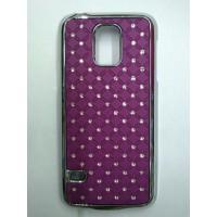 Пластиковый чехол со стразами для Samsung Galaxy S5 Mini Фиолетовый