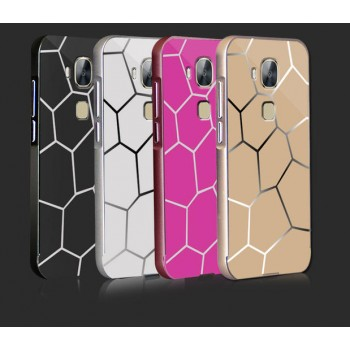 Двухкомпонентный чехол с металлическим бампером и поликарбонатной текстурной накладкой для Huawei G8