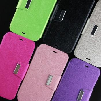 Текстурный чехол флип подставка на силиконовой основе с дизайнерской магнитной застежкой для Huawei G8
