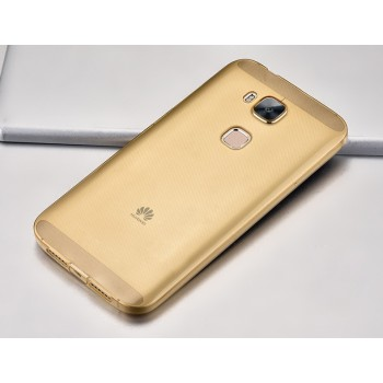 Силиконовый матовый полупрозрачный чехол повышенной защиты с заглушками для Huawei G8