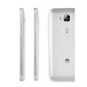 Силиконовый глянцевый полупрозрачный чехол повышенной защиты с заглушками для Huawei G8