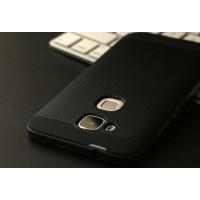 Двухкомпонентный чехол с силиконовой накладкой и поликарбонатным бампером для Huawei G8 Серый