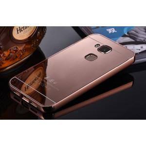 Гибридный металлический двухкомпонентный чехол и поликарбонатной крышкой с зеркальным покрытием для Huawei G8