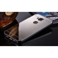 Гибридный металлический двухкомпонентный чехол и поликарбонатной крышкой с зеркальным покрытием для Huawei G8 Белый