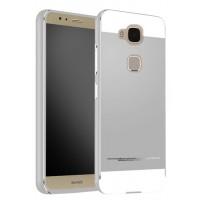 Двухкомпонентный чехол с металлическим бампером и поликарбонатной накладкой для Huawei G8 Серый