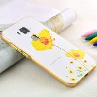 Двухкомпонентный чехол с металлическим бампером и поликарбонатной накладкой с объемно-рельефным принтом для Huawei G8
