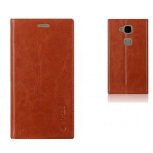 Глянцевый кожаный чехол флип подставка на присоске с отделением для карты для Huawei G8