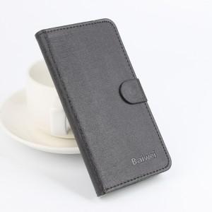 Текстурный чехол флип подставка на силиконовой основе с магнитной застежкой и отделением для карт для Lenovo A5000 Черный