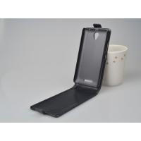 Глянцевый чехол вертикальная книжка на пластиковой основе с магнитной застежкой для Lenovo A5000 Черный