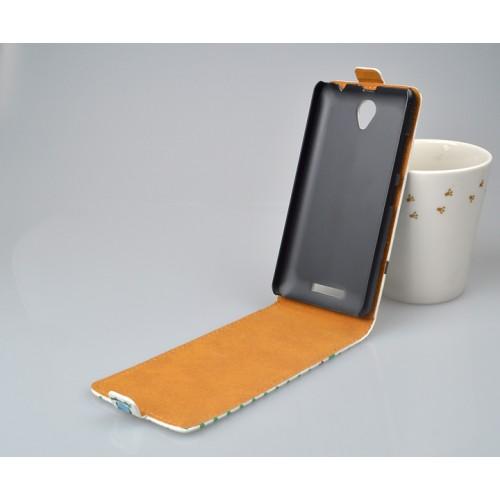 Чехол вертикальная книжка на пластиковой основе с магнитной застежкой и полноповерхностным принтом для Lenovo A5000