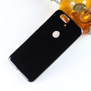 Силиконовый матовый полупрозрачный чехол для Google Huawei Nexus 6P Черный