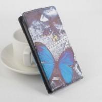 Чехол вертикальная книжка на силиконовой основе с магнитной застежкой и полноповерхностным принтом для Lenovo S580 Ideaphone