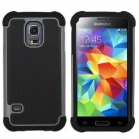 Силиконовый чехол экстрим защита для Samsung Galaxy S5 Серый