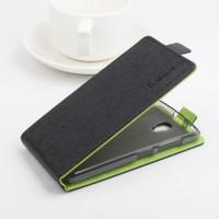 Текстурный чехол вертикальная книжка на силиконовой основе с магнитной застежкой для Lenovo A2010 Черный