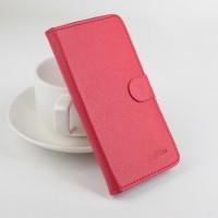 Чехол портмоне подставка на силиконовой основе с защелкой для Lenovo A2010 Красный