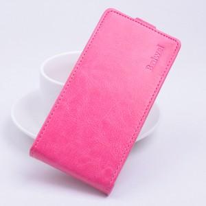 Глянцевый чехол вертикальная книжка на силиконовой основе с магнитной застежкой для Lenovo A2010 Пурпурный