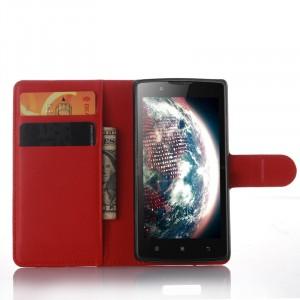 Чехол портмоне подставка с защелкой для Lenovo A2010 Красный