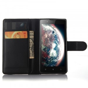 Чехол портмоне подставка с защелкой для Lenovo A2010 Черный