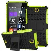 Антиударный силиконовый чехол экстрим защита с подставкой для Microsoft Lumia 430 Dual SIM Зеленый