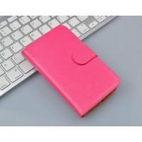 Глянцевый чехол портмоне подставка с защелкой на пластиковой основе для Microsoft Lumia 430 Dual SIM Пурпурный