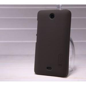 Пластиковый матовый нескользяий премиум чехол для Microsoft Lumia 430 Dual SIM