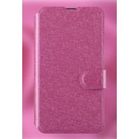 Текстурный чехол флип подставка на пластиковой основе с магнитной застежкой и отделением для карт для Microsoft Lumia 430 Dual SIM Пурпурный