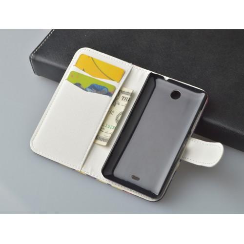 Дизайнерский чехол портмоне с магнитной застёжкой и полноповерхностным принтом для Microsoft Lumia 430 Dual SIM