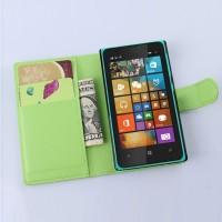 Чехол портмоне подставка с защелкой для Microsoft Lumia 532 Зеленый