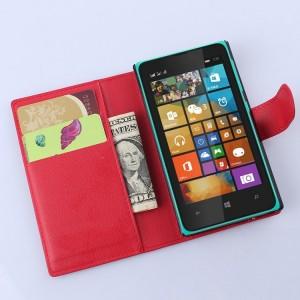 Чехол портмоне подставка с защелкой для Microsoft Lumia 532