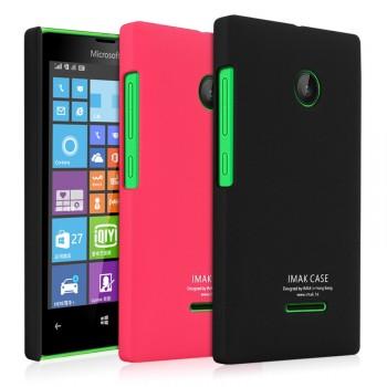 Пластиковый матовый непрозрачный чехол с повышенной шероховатостью для Microsoft Lumia 532