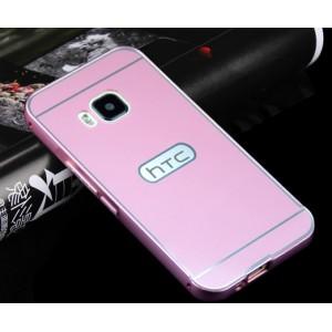 Двухкомпонентный чехол с металлическим бампером и поликарбонатной накладкой для HTC One M9