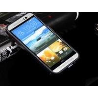 Двухкомпонентный чехол с металлическим бампером и поликарбонатной накладкой для HTC One M9 Черный
