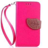 Чехол портмоне подставка на силиконовой основес дизайнерской защёлкой для Nokia Lumia 530 Пурпурный