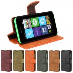 Винтажный чехол портмоне подставка с защелкой для Nokia Lumia 530