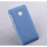 Пластиковый матовый чехол с повышенной шероховатостью для Nokia Lumia 530 Голубой