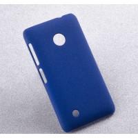 Пластиковый матовый чехол с повышенной шероховатостью для Nokia Lumia 530 Синий