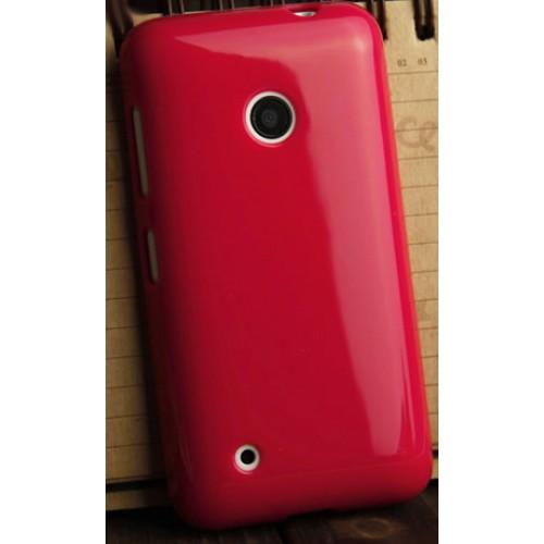 Силиконовый глянцевый непрозрачный чехол для Nokia Lumia 530