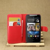 Чехол портмоне подставка с защелкой для HTC Desire 310 Красный