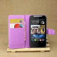 Чехол портмоне подставка с защелкой для HTC Desire 310 Фиолетовый