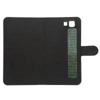 Клеевой чехол флип с магнитной застежкой для Doogee X5 Черный