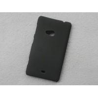 Пластиковый матовый непрозрачный чехол для Nokia Lumia 625 Черный