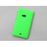 Пластиковый матовый непрозрачный чехол для Nokia Lumia 625 Зеленый