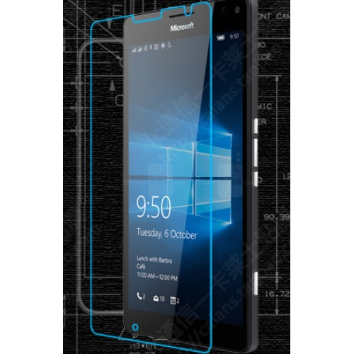 Ультратонкое износоустойчивое сколостойкое олеофобное защитное стекло-пленка для Microsoft Lumia 950 XL