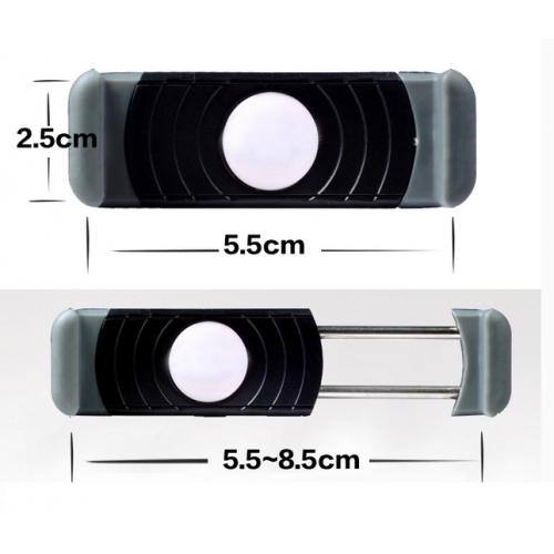 Универсальный роторный 360° автомобильный держатель на любую вентиляционную решетку для гаджетов 55-85 мм