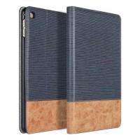 Текстурный чехол подставка с внутренними отсеками и тканевым покрытием для Ipad Mini 4 Синий